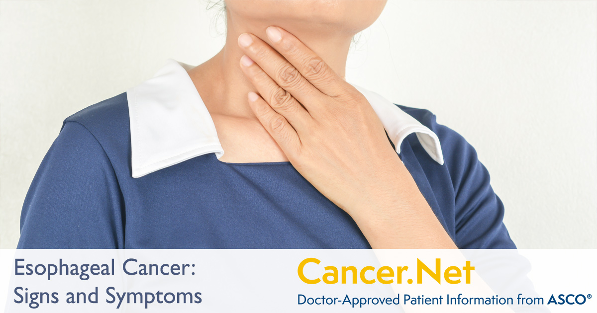 Esophageal Cancer: Symptoms and Signs | Cancer.Net