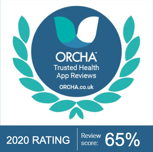 ORCHA Trusted Health App Reviews; ORCHA.co.uk; 2020 Rating: Review Score: 65%