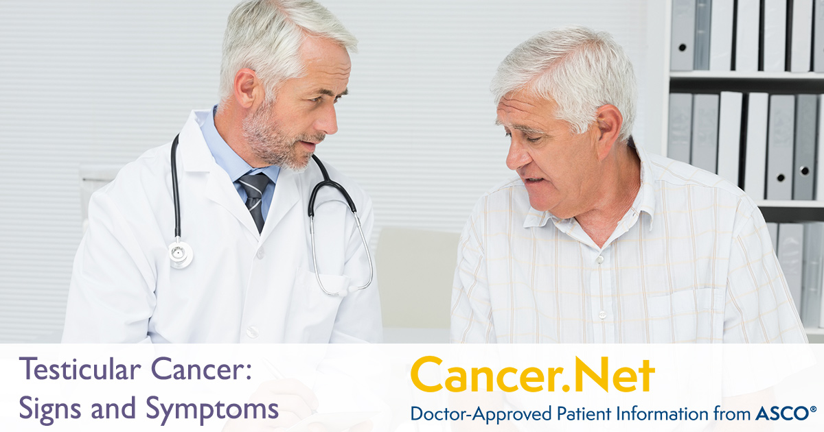 Testicular Cancer Symptoms And Signs Cancer