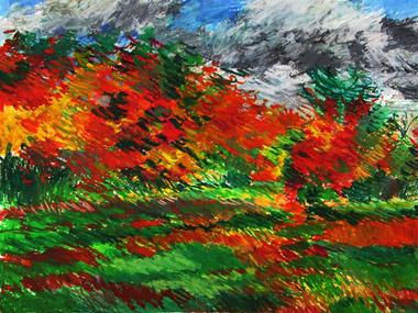 Autumn Trees, by Lorna Ritz