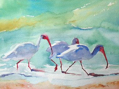 Walk on the Beach, by Suzanne Flavin