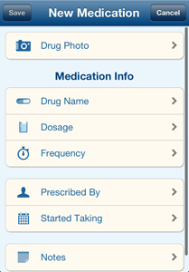 Medications Screenshot