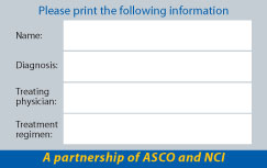 ASCO and NCI Disaster Card Back